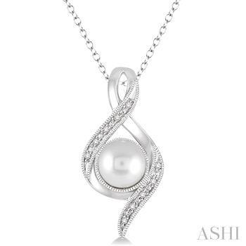 Silver Gemstone & Diamond Pendant