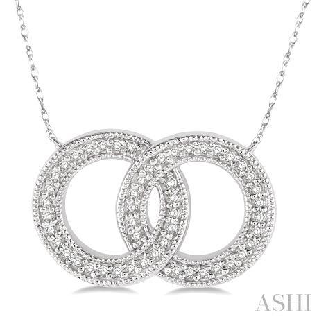 Twin Circle Diamond Pendant