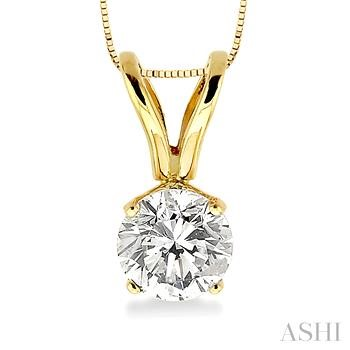 Solitaire Diamond Pendant