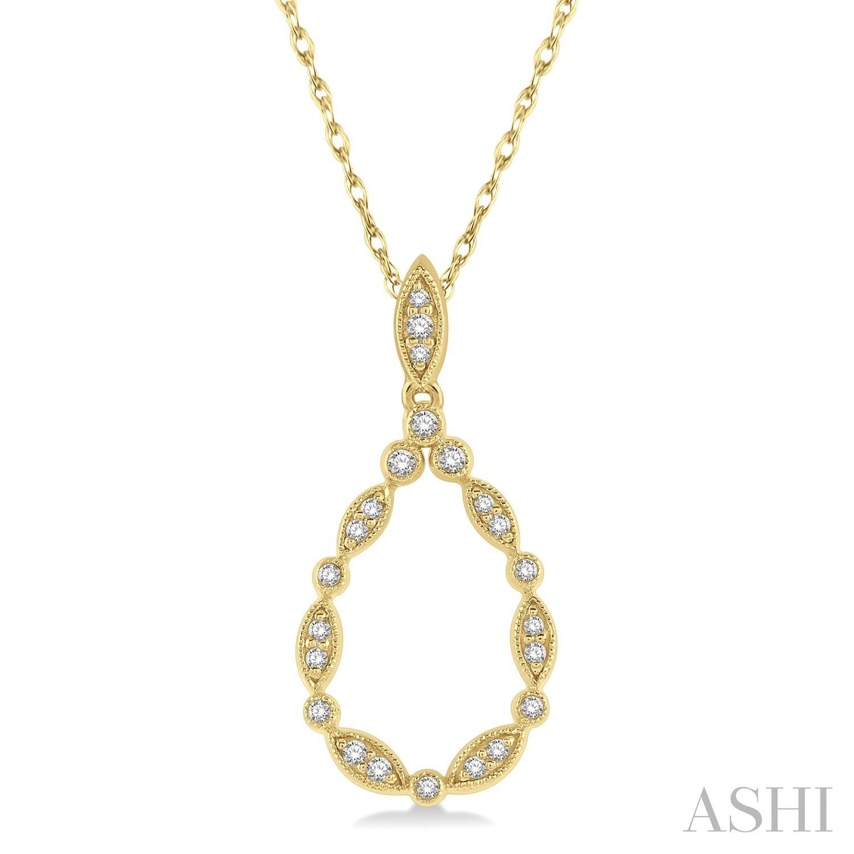 Diamond Drop Shape Pendant