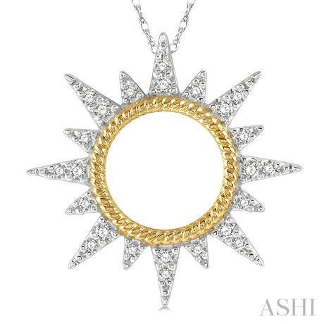 Diamond Sunrays Pendant