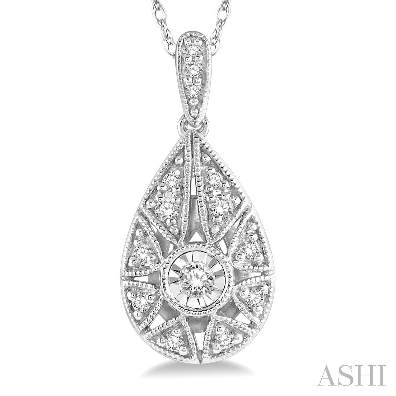 Diamond Pear Shape Pendant