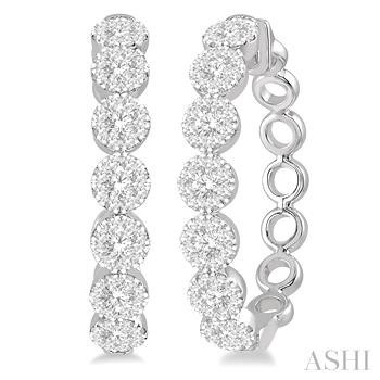 Lovebright Diamond Hoop Earrings