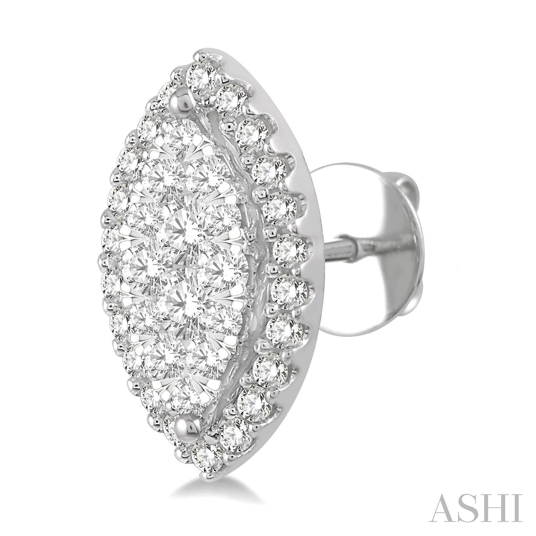 Marquise Shape Lovebright Diamond Earrings