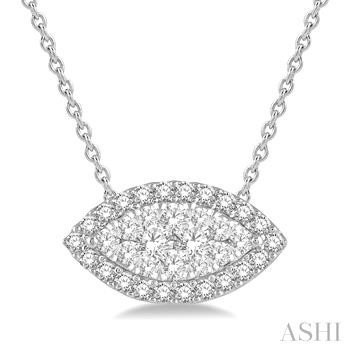 Marquise Shape Lovebright Diamond Pendant