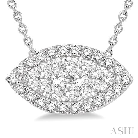 Marquise Shape Lovebright Diamond Pendant
