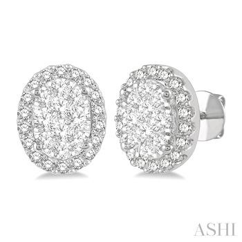Oval Shape Lovebright Essential Diamond Earrings
