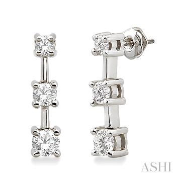 Past Present & Future Diamond Earrings
