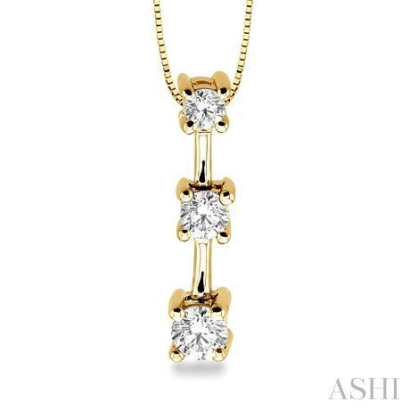 Past Present & Future Diamond Pendant