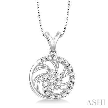 Flower Shape Diamond Pendant