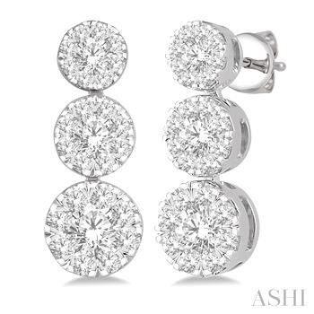 PAST PRESENT & FUTURE LOVEBRIGHT DIAMOND EARRINGS