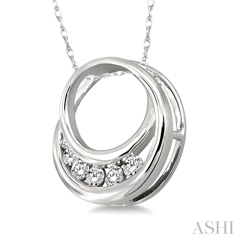 Circle Journey Diamond Pendant