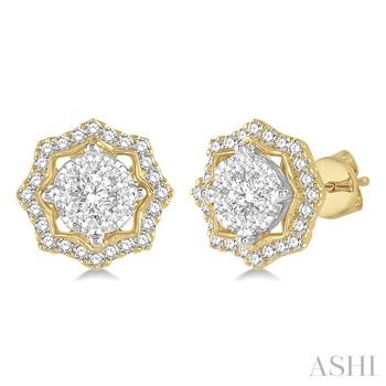 Flower Shape Lovebright Diamond Earrings