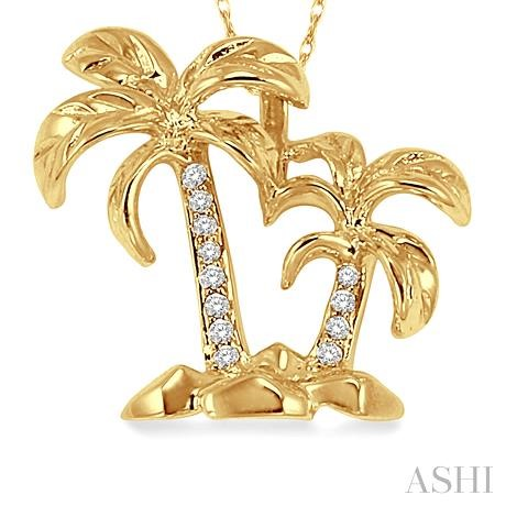 Palm Tree Diamond Pendant