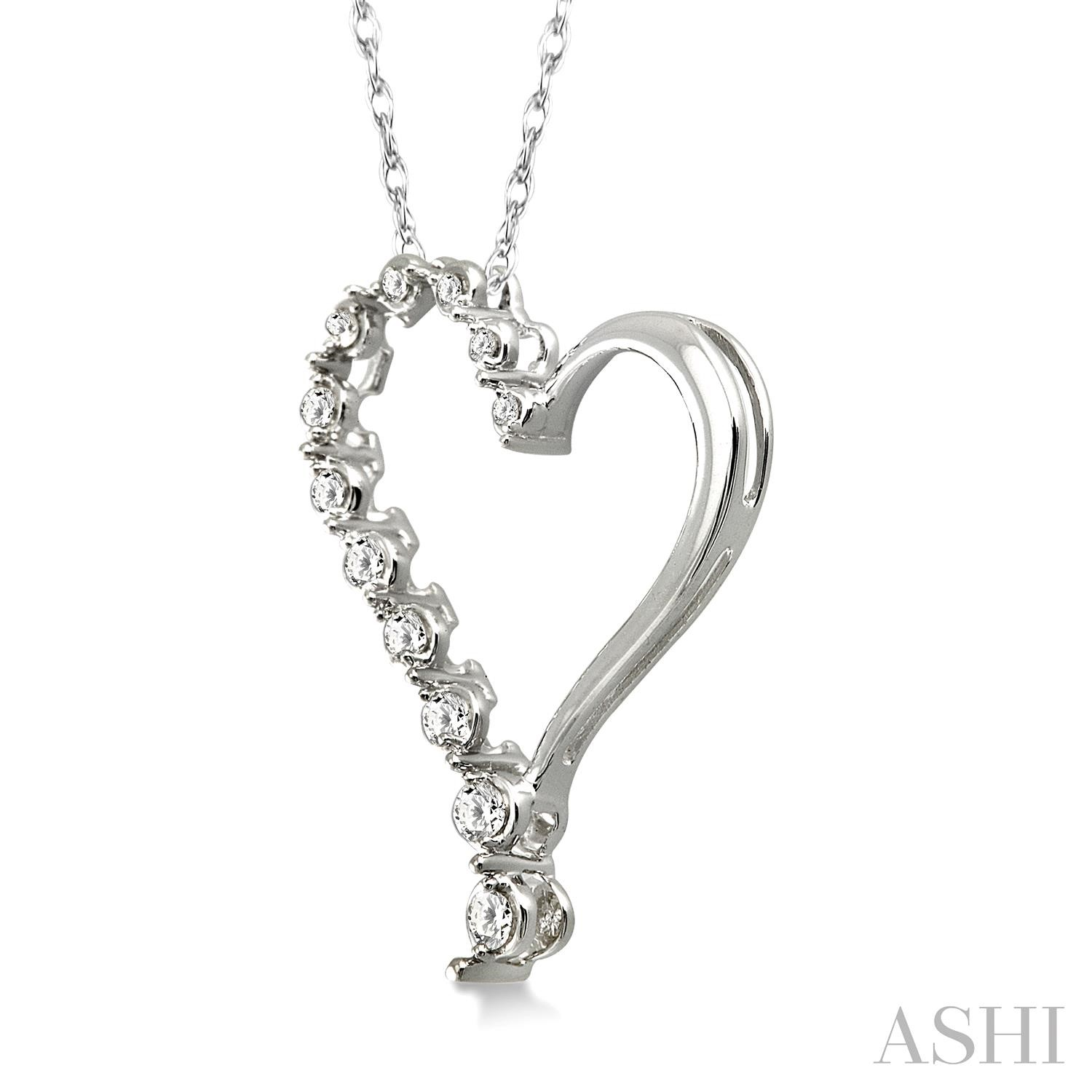 Half Journey Diamond Heart Shape Pendant