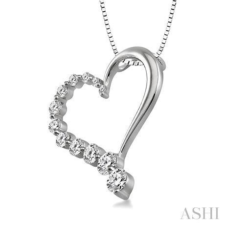 HALF JOURNEY DIAMOND HEART PENDANT
