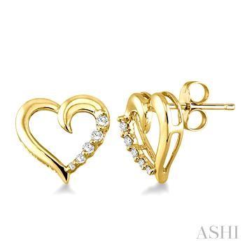Heart Shape Journey Diamond Earrings
