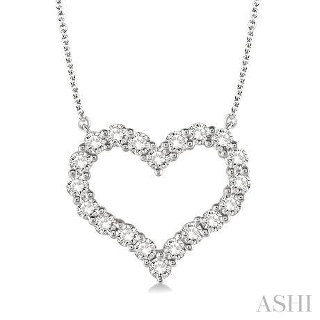 Heart Shape Diamond Necklace