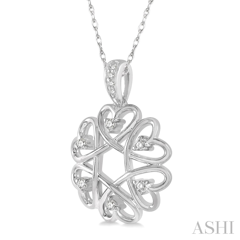 Diamond Heart Shape Pendant