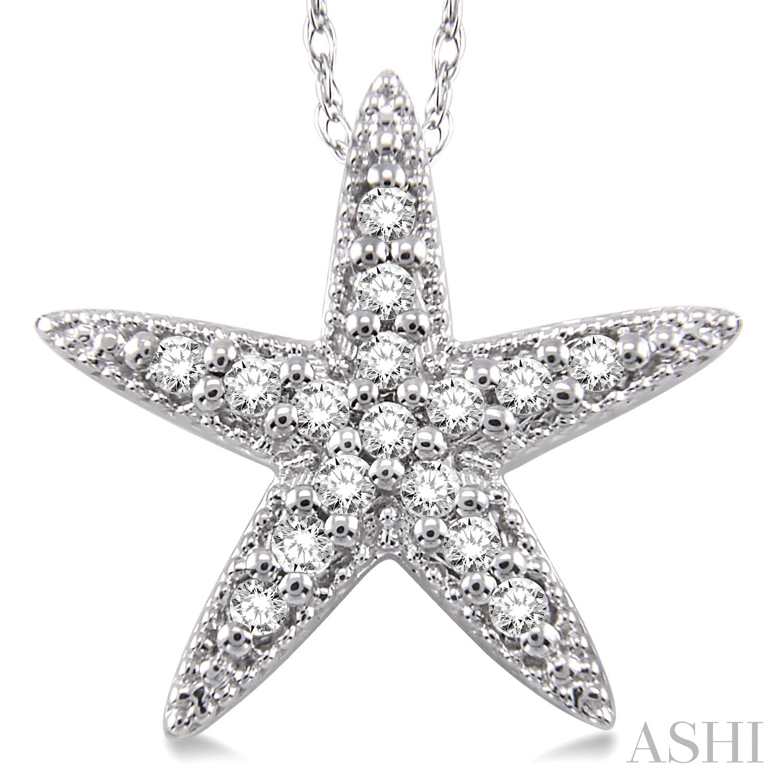 Sea Star Diamond Pendant