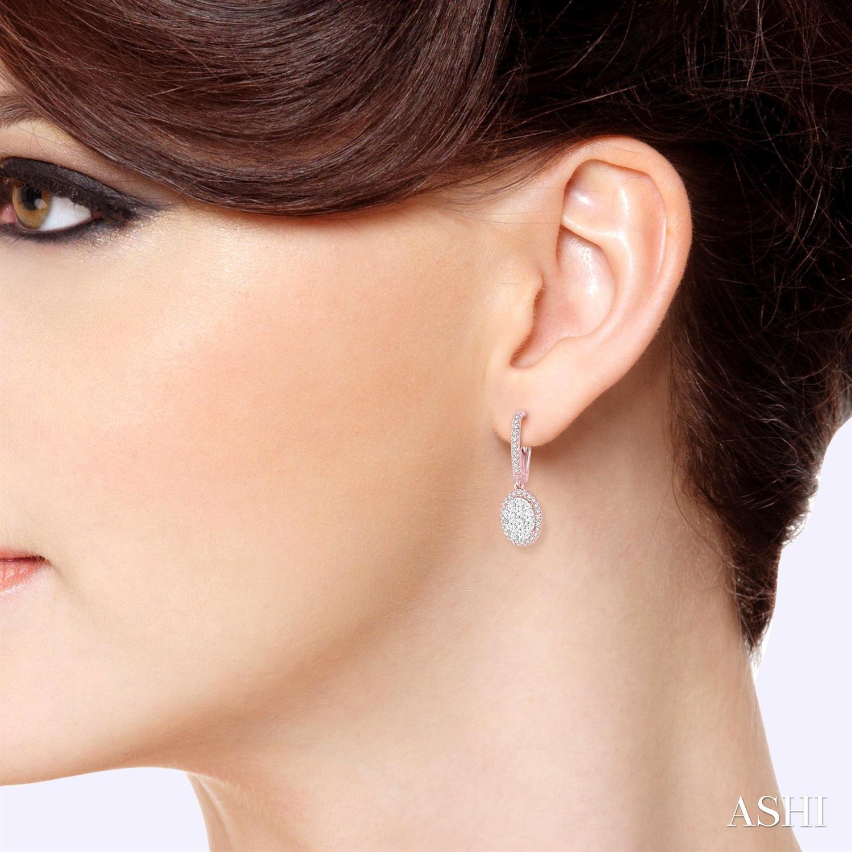 Oval Shape Lovebright Diamond Earrings