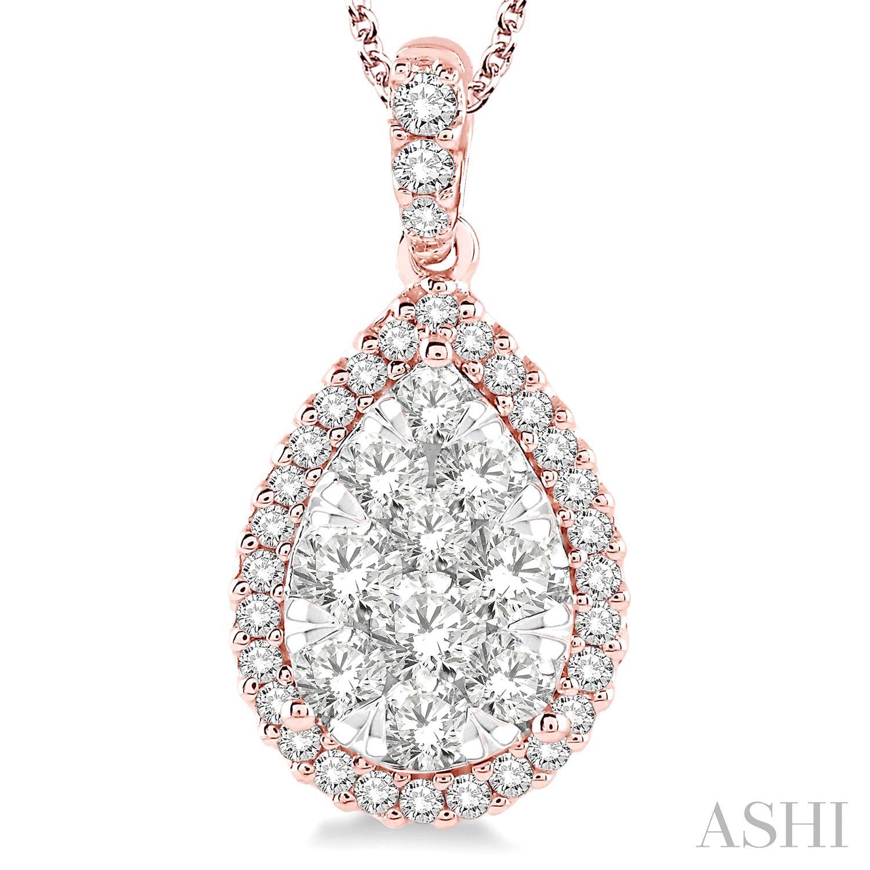 Pear Shape Lovebright Essential Diamond Pendant