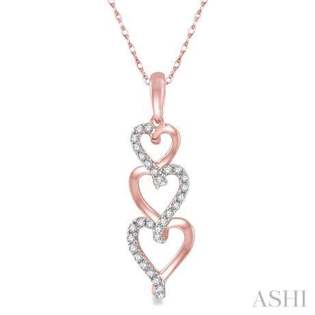 Tri Heart Shape Diamond Pendant
