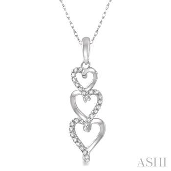 Tri Heart Shape Diamond Pendant