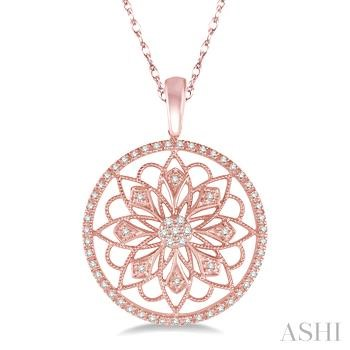 Circle Floral Diamond Pendant
