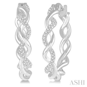 TWISTED HOOP DIAMOND EARRINGS