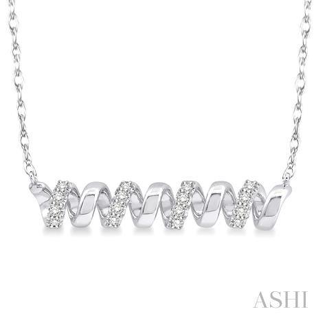Spiral Shape Diamond Pendant