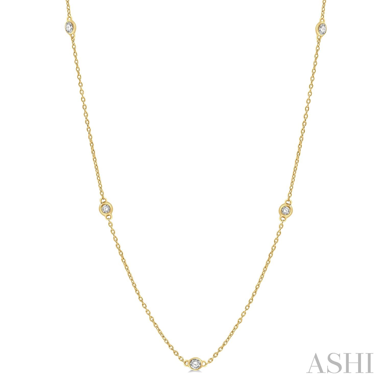 Diamond Station Necklace
