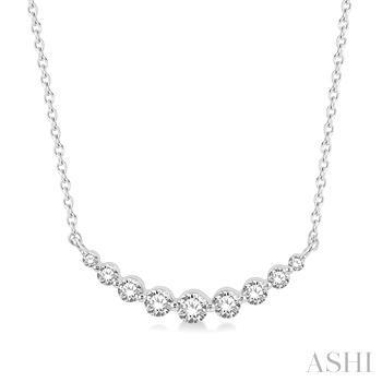 Diamond Fixed Smiley Necklace