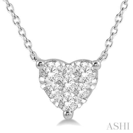 Heart Shape Lovebright Essential Diamond Necklace