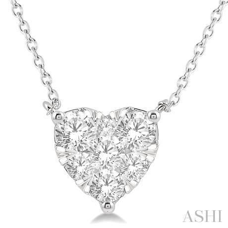 Heart Shape Lovebright Diamond Necklace