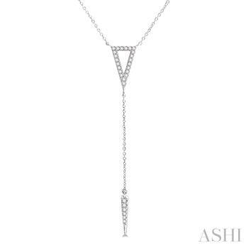 Triangle Spike 'Y' Shape Diamond Necklace