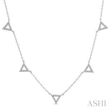 Triangle Station Diamond Necklace