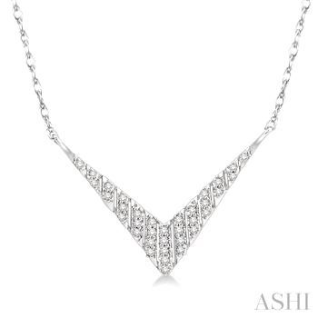 'V' Shape Diamond Necklace