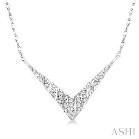 'V' Shape Diamond Necklace