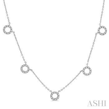 Circle Diamond Station Necklace