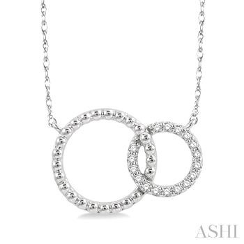 Diamond Double Circle Necklace