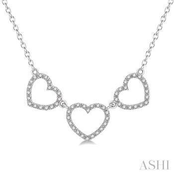 Tri Heart Shape Diamond Necklace