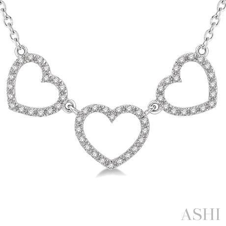 Tri Heart Shape Diamond Necklace