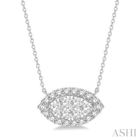 Marquise Shape Lovebright Diamond Necklace