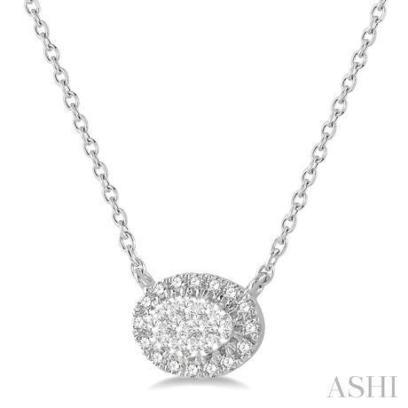 Oval Shape Lovebright Essential Diamond Necklace