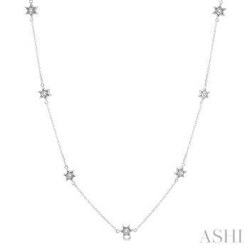 Diamond Star Station Necklace