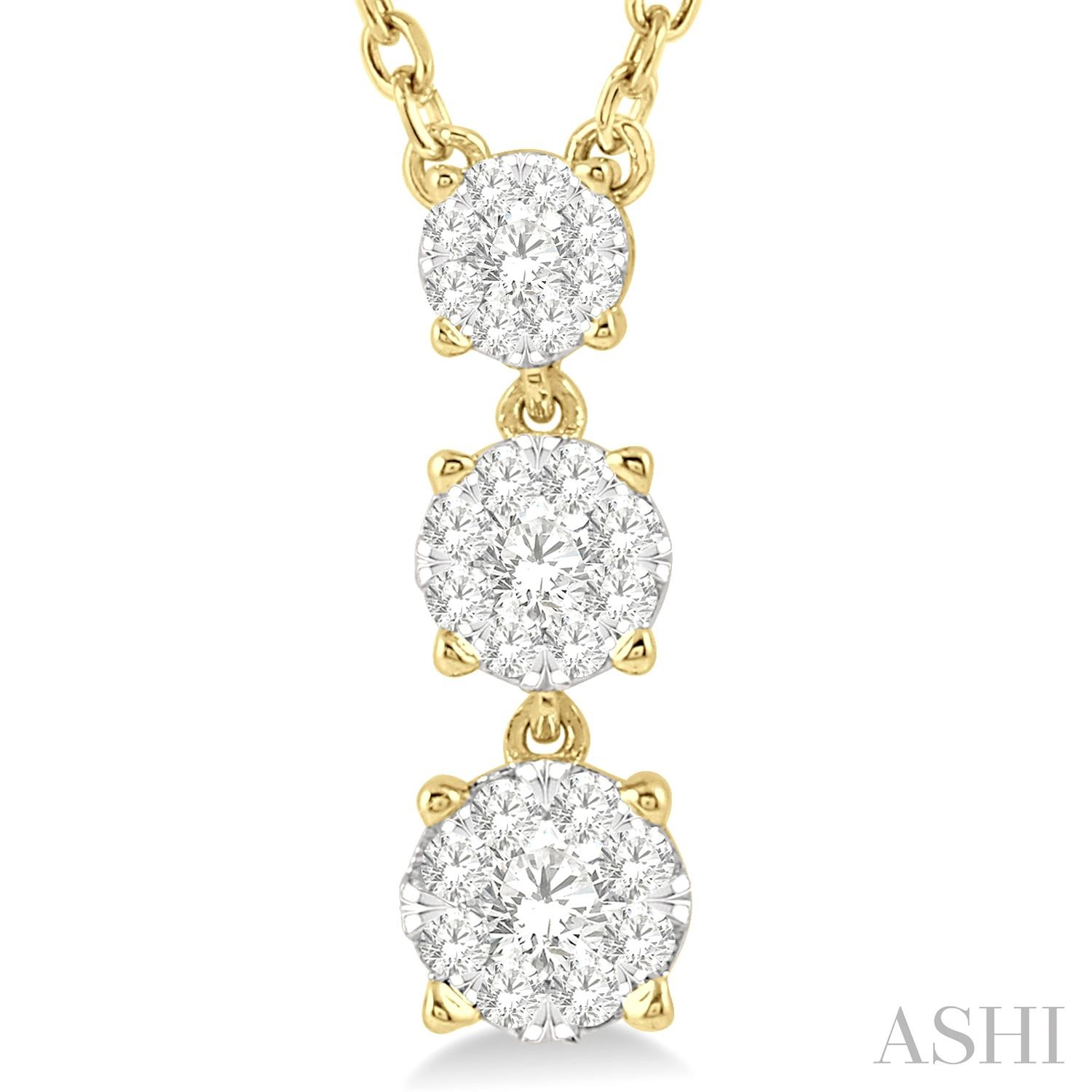 Past Present & Future Lovebright Diamond Necklace