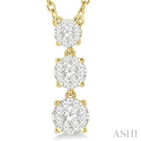 Past Present & Future Lovebright Diamond Necklace