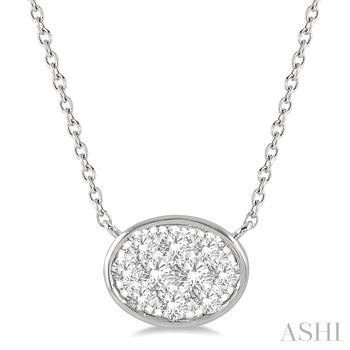OVAL SHAPE LOVEBRIGHT DIAMOND NECKLACE