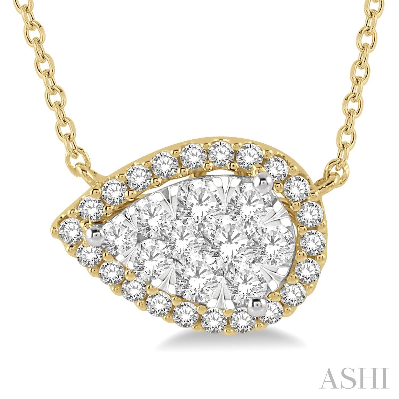 Pear Shape Lovebright Essential Diamond Necklace
